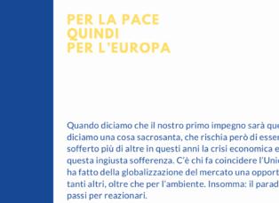 Per la pace, quindi per l'Europa