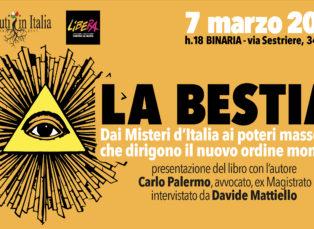 """Con Carlo Palermo. Presentazione de """"La Bestia"""""""
